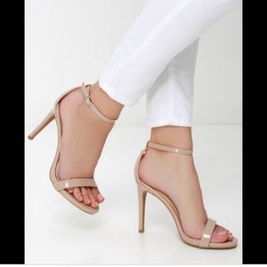 Lulus nude strapping heels